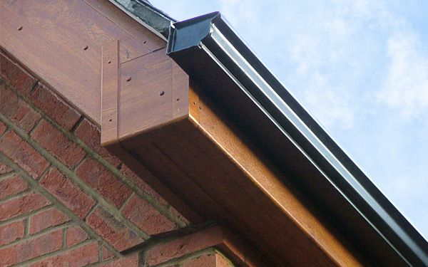 Fascias available in wood effect