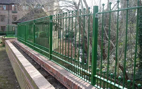 Green railings installed