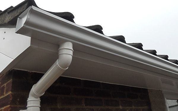 Seamless guttering installed