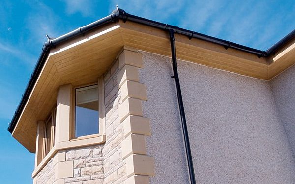 Soffits in wood effect