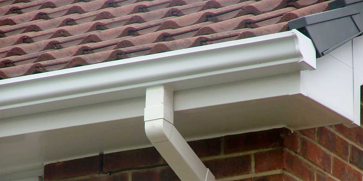 Guttering on front of house